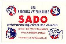 Buvard publicitaire produits vétérinaires Sado  Ablis