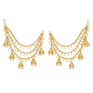 35c1c7a6abb6c Jwellmart Indian Bollywood Gold Plated Faux Pearl Earrings support ...