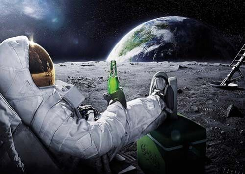 Mond Pause XXL Poster Bild