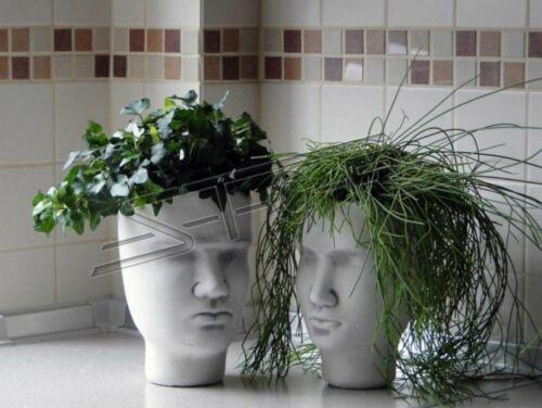 Design Blumentopf Top Planz Kübel Gefäß Töpfe Figur Gesicht Skulptur  S204025