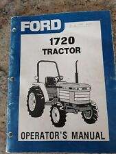 Ford 1720 Tractor Operators Manual Good Condition