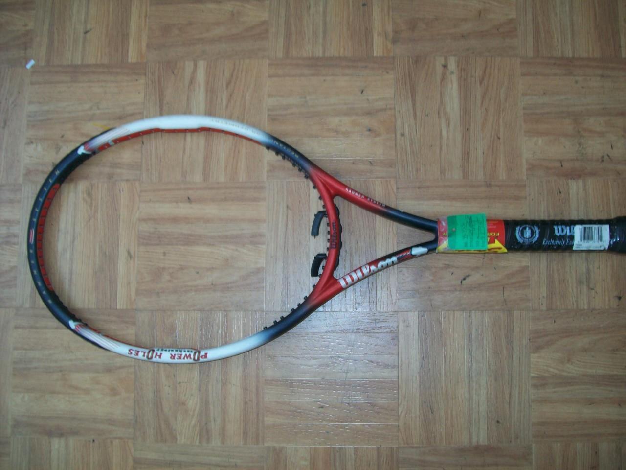 Nuevo Martillo 6.4 Wilson Original Power agujeros Stretch 110 4  1 4 Grip Tenis Raqueta  promociones de descuento