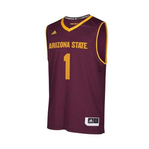 Adidas Men's NCAA Arizona State Sun Devils Replica Basketball Jersey Shirt NEW