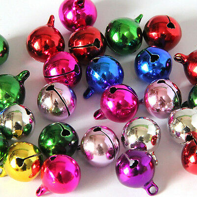 Mix Color 10/80x Jingle Bells Copper Metal Fit Festival  Pendants Decor 6~20MM