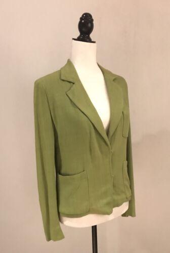 Blazer Prada Kvinders Vtg Viscose Jakke 100 Lysegrøn 40 Italiensk Suit 141YxWPq7w