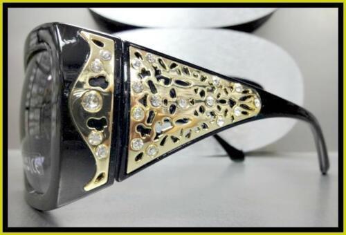 CLASSY WESTERN Rustic Bling COWGIRL Style SUNGLASSES Elegant Black /& Gold Frame