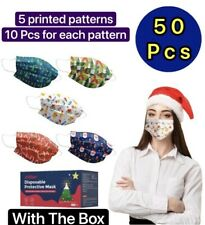 50 Pcs Christmas Face Mask Mouth Amp Nose Protector Respirator Masks With Filter