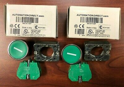 Lot of 2 Automation Direct ECX1040 Contact Blocks N.O.