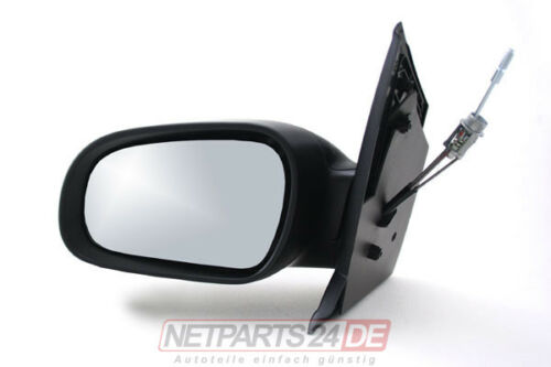 Spiegel Außenspiegel links Neu Fahrerseite Schwarz manuell VW Fox 5Z1 ab 04//05