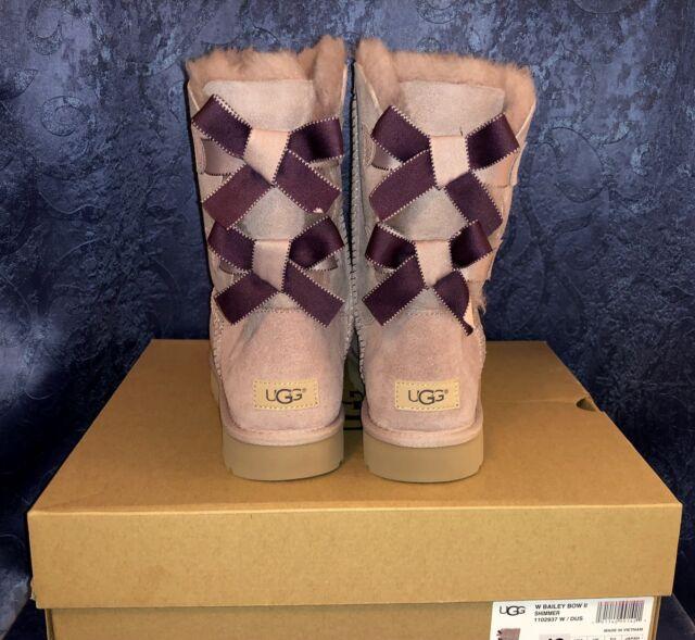 38fbb4d1160 UGG Australia Tania Chestnut Color Suede Sheepskin BOOTS Size 7 US