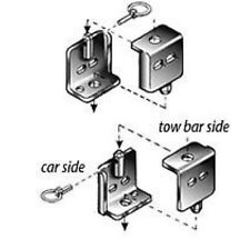 Roadmaster 222 Tow Bar Quick Disconnects - Car Side Only