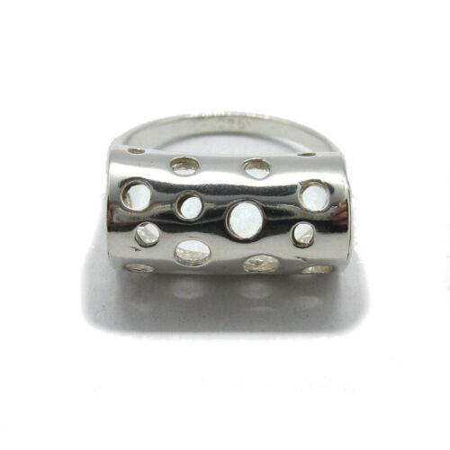 Stilvoller Sterling Silber Ring mit Zirkonia massiv punziert 925 handgefertigt