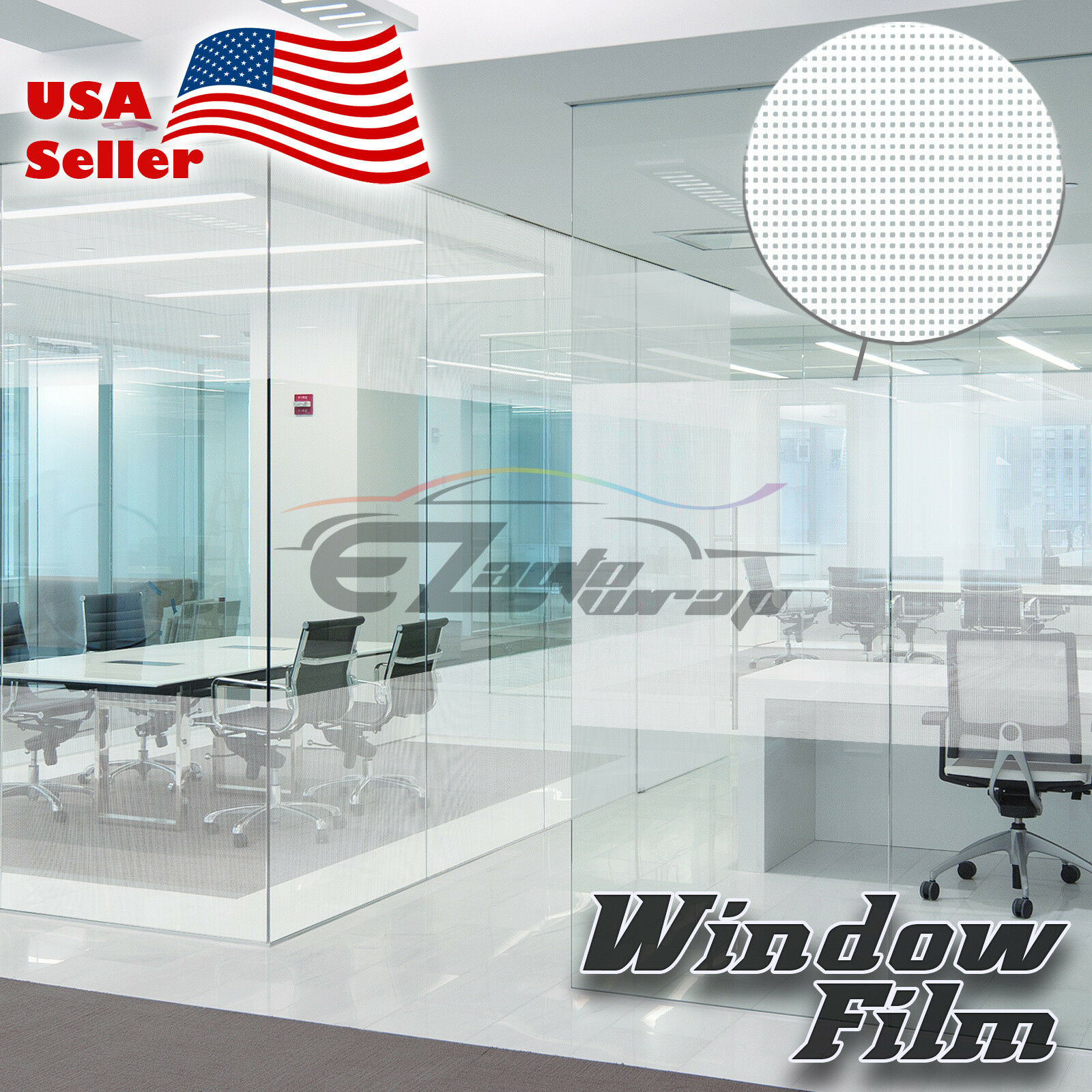 Net Style Glass Film Static Cling Office Window Patterned Decoration Privacy  38