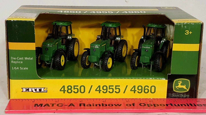 Ertl John Deere 4850 4955 4960 1 64 diecast farm tractor replica collectible