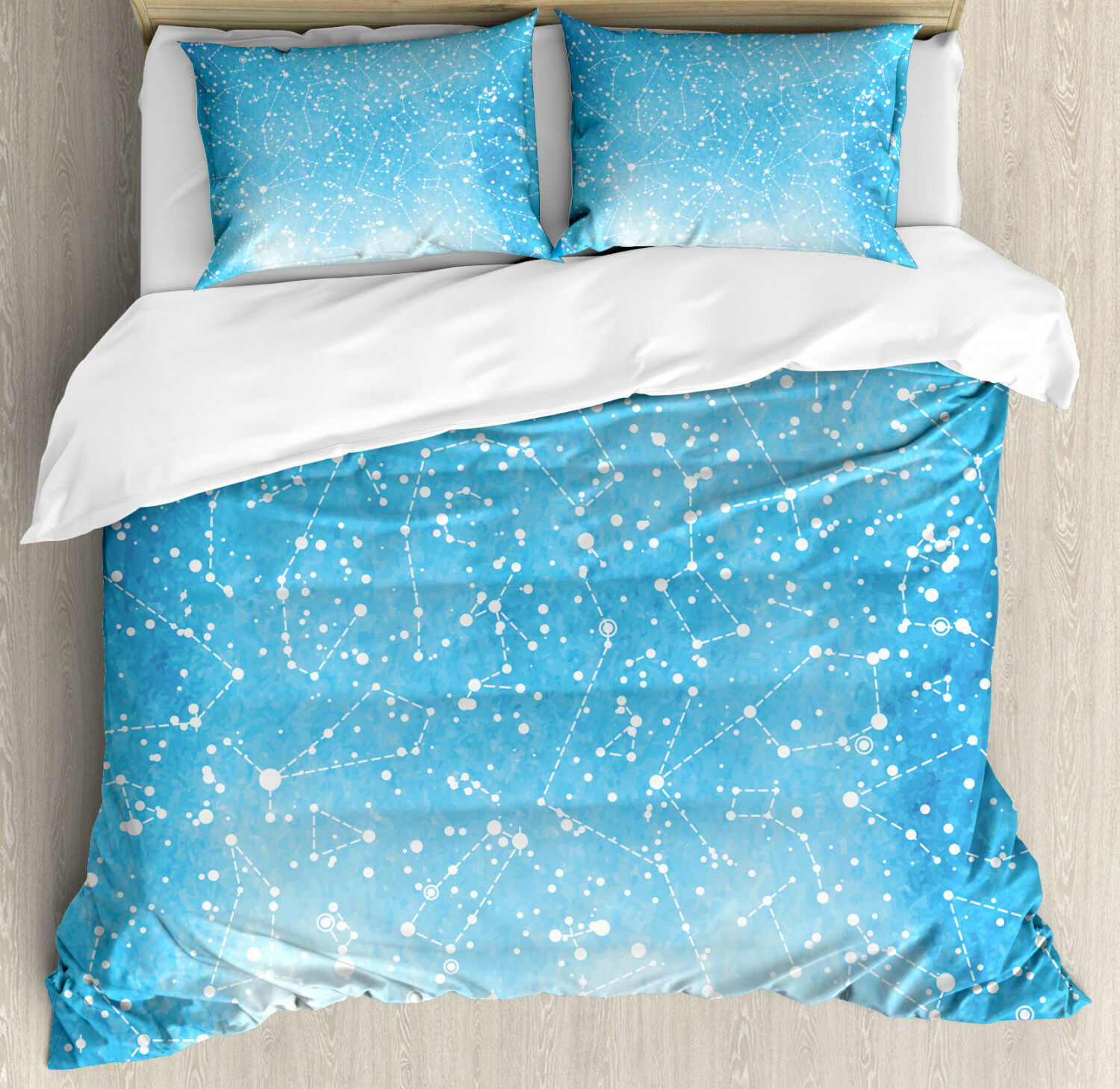 Constellation Duvet Cover Set with Pillow Shams Astronomy Artwork Print