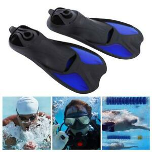 Diving-Foot-Short-Fins-Swim-Flippers-Scuba-Snorkeling-Snorkel-Diving-Surf-Set