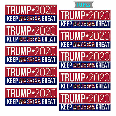 20Pcs Donald Trump 2020 Car Bumper Stickers For President Keep America Great 2H