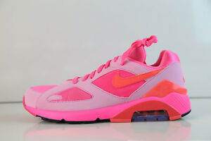 f218b99c259ab7 Nike Air Max 180 CDG Comme Des Garcons Laser Pink Solar Red Rise ...