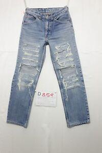 Levi-039-s-slim-fit-custom-wild-Wildschwein-jeans-gebraucht-Cod-D859-Groesse-44-W30