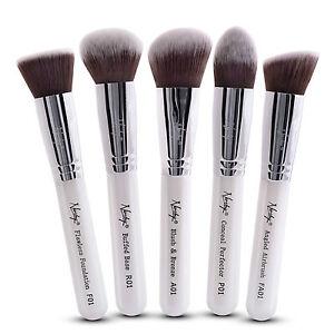 Pro-Foundation-Makeup-Cosmetic-Brush-Set-by-NANSHY-Dense-Soft-Synthetic-Bristle