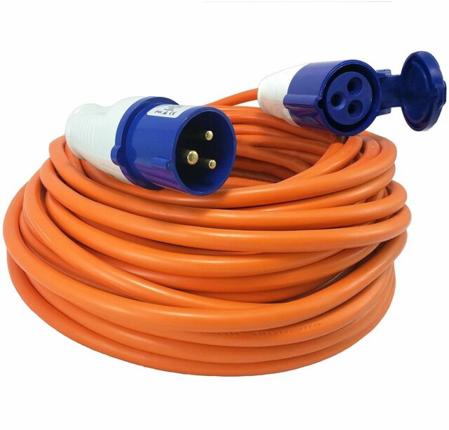 MSA 230v 25m Towing /& Touring Caravan Site Power Socket Extension Cable Lead