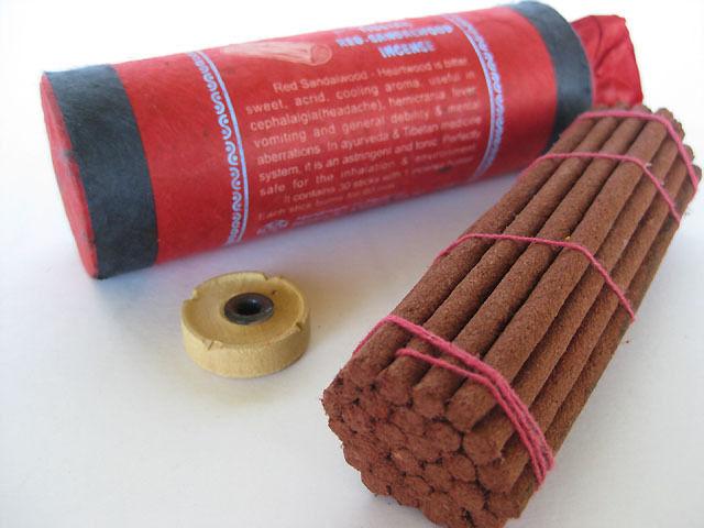 Tibetan Red Sandalwood Incense ~ Ayurvedic healing