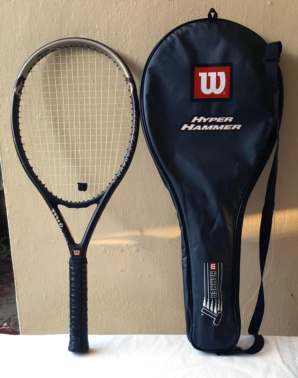 Martillo 3.3 Wilson Hyper Carbono serie 2 Raqueta De Tenis Agarre de gran tamaño 115 de 4 5 8