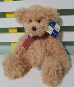 OSCAR-TEDDY-BEAR-GUARDIAN-PHARMACY-TEDDY-BEAR-RED-PLAID-BOW-28CM-CARTE-BLANCHE