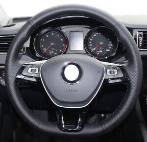 DIY Steering Wheel Cover for VW Jetta Passat Golf MK7 Polo Caddy Atlas B8 Tiguan