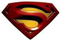Superman Logo Iron On Transfer 7x10.25 For Light Colored Fabric