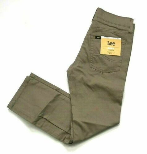 Lee Boys Straight Fit Straight Leg Athletic Jean \ Pant Khaki Size 10 New B9