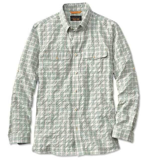 New  Orvis Rainy Bridge Shirt  XL Green striped  factory outlet