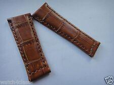 Genuine Leather Band Strap bracelet (FITS) Rolex DAYTONA  20mm x 16mm milk brown