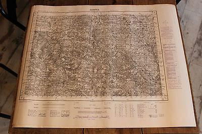 Neueste Kollektion Von Antike Karte Ignf M761-1952 Saintes Army Map Service