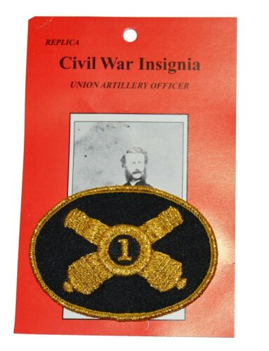 American Civil War Artillery Officer Numbered Cannon Hat Badge 8x5cms Gettysburg