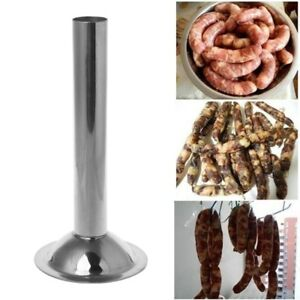 #10 Stainless Steel Size Meat Grinder Sausage Stuffer Tube Horn Funnel Filling
