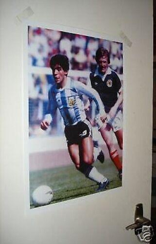 Maradona Argentina and Kenny Dalglish World Cup Poster