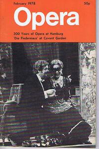 300-YEARS-AT-HAMBURG-DIE-FLEDERMAUS-Opera-magazine-Feb-1978