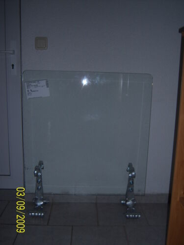 Funkenschutz Kamin 6 mm Glas Schmiedekunst 900 x 900 x 1100 Einzelanfertigung