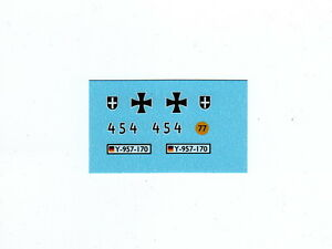 Waterslide Transfer//Decal White Triangle Dinky 151A Medium Tank