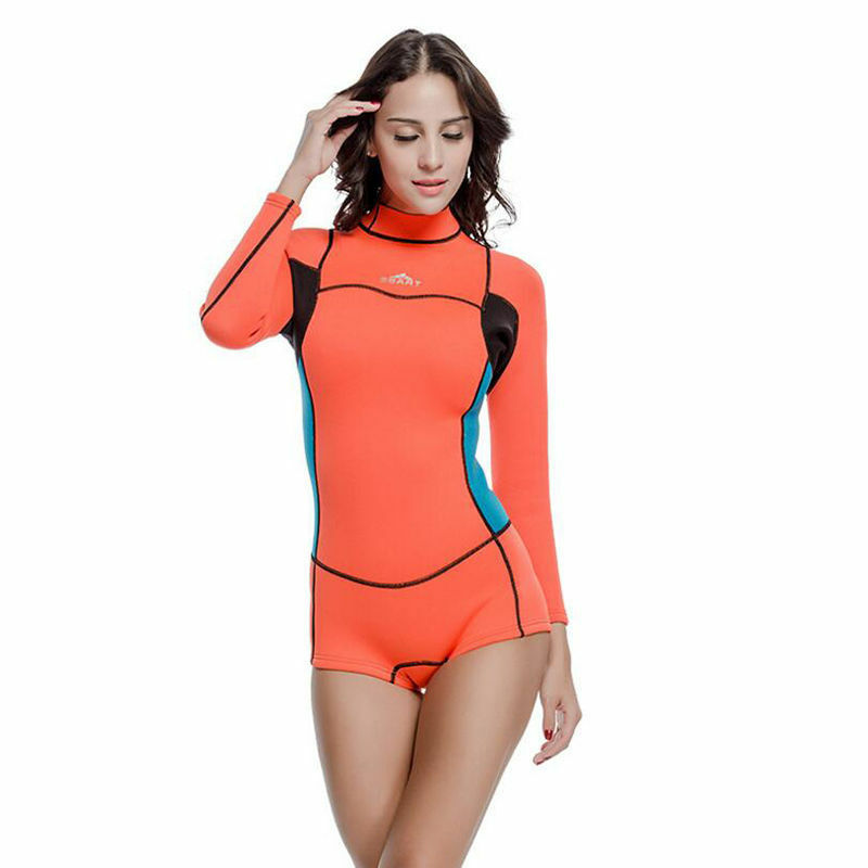 SBART Women 2mm Neoprene Shorty Wetsuit Surfing Snorkeling One Piece  Swimsuits  support wholesale retail