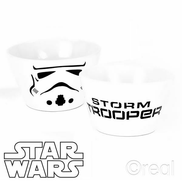 Neuf Star Wars Stormtrooper Céramique Bol À Céréales Petit Déjeuner Rétro Disney