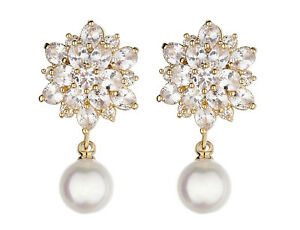 Clip-On-Earrings-luxury-gold-drop-with-clear-stones-and-a-pearl-Nancy-G