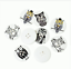 5 Botones Madera Flatback Búhos 2 orificios 30 mm Costura Artesanía Reino Unido Vendedor Diseños Mixtos