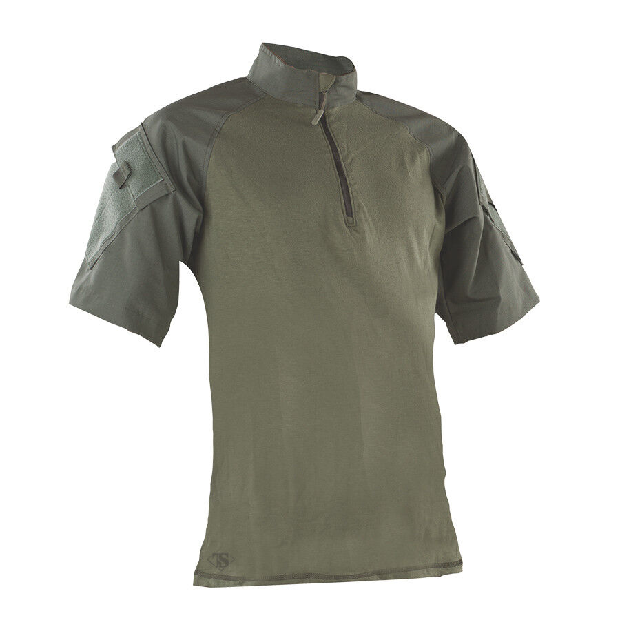 Tru-Spec Olive Drab 1 4 Zip Short Sleeve Combat Shirt