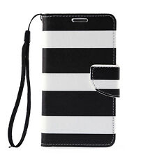 Leather Flip Wallet Stand Case Cover For Samsung Galaxy Note 2 II N7100 Black