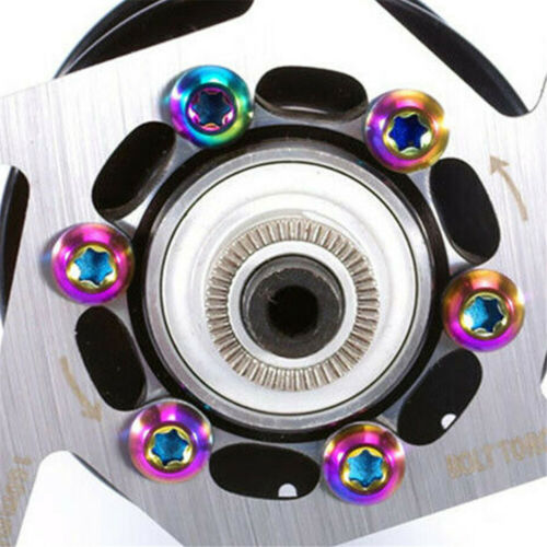 12Pcs M5 Bicycle Disc Brakes Rotor Bolts Nuts For MTB Bikes Cycling T25 Head
