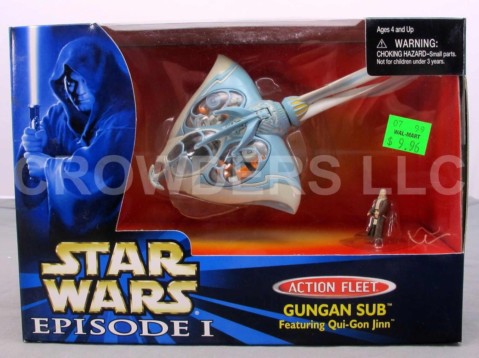 Star Wars Episode 1 TPM Action Fleet Gungan Sub w  Qui Gon Jinn Galoob '99 NIB
