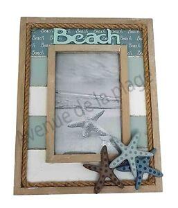 Cadre Photo Beach Et étoiles De Mer à Poser Décor Marin Déco Thème