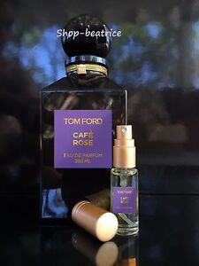 tom ford private blend cafe rose 5 ml spray ebay. Black Bedroom Furniture Sets. Home Design Ideas